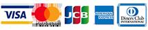 ご利用可能なカード会社は、VISA、Master、Diners、JCB、AMERICAN EXPRESSです