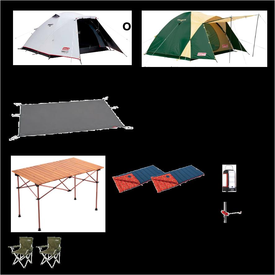 2名用キャンプ基本レンタルセット