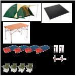 4名用キャンプ基本レンタルセット