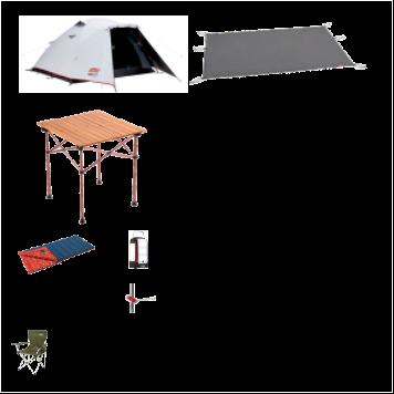 ソロキャンプ基本レンタルセット